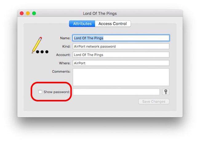 Ver la casillas de selección wifi en mac