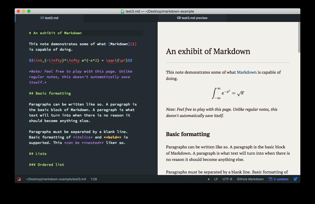 markdown Atom editors