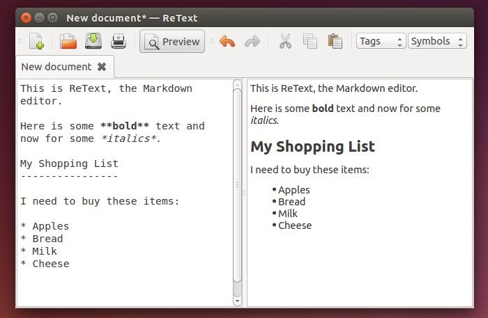 editores de markdown ReText