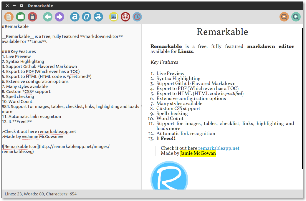 markdown Remarkable editors