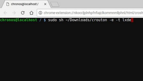 instalar linux en chromebook 2