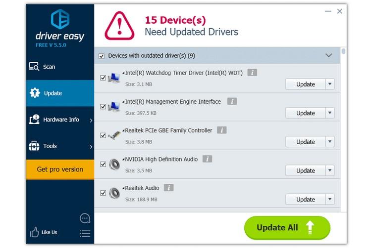 aplicaciones actualizar controladores 8