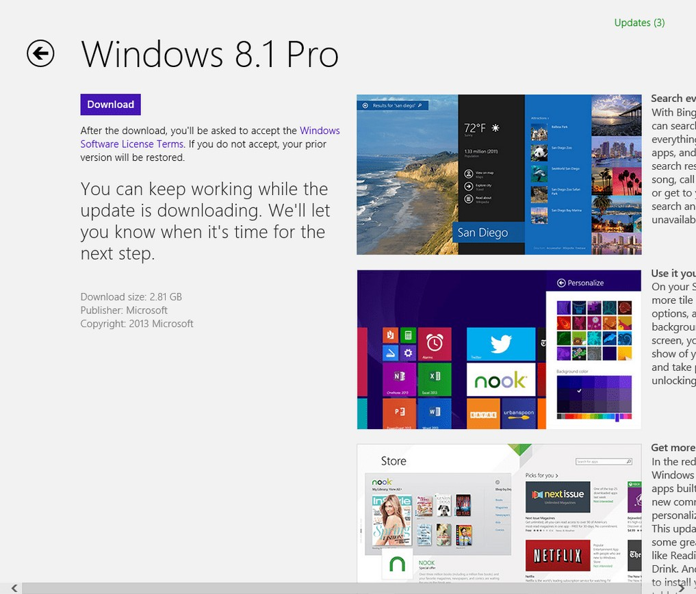 como actualizar windows 8.1 3