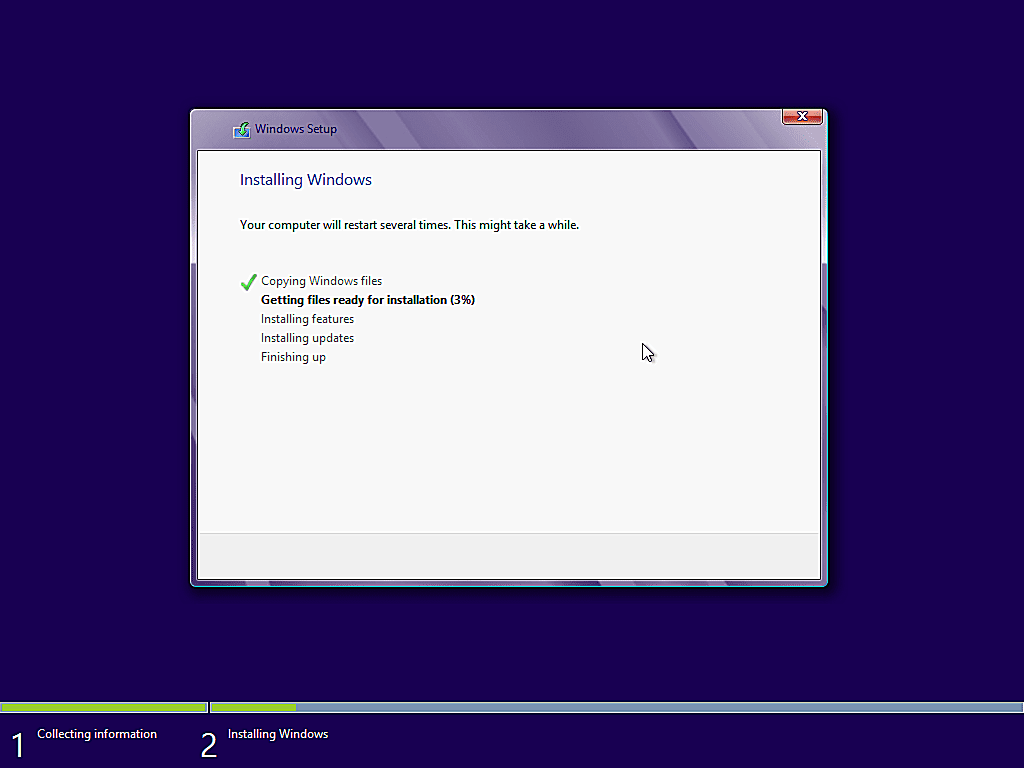 como instalar windows 8 16