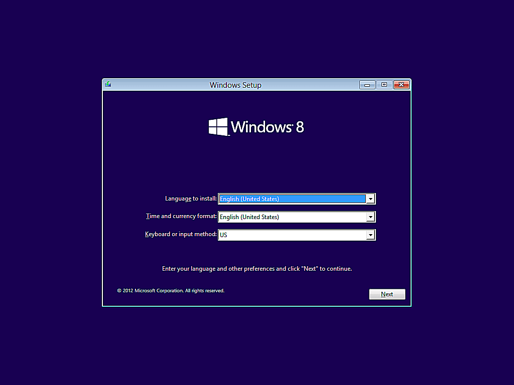 como instalar windows 8 4