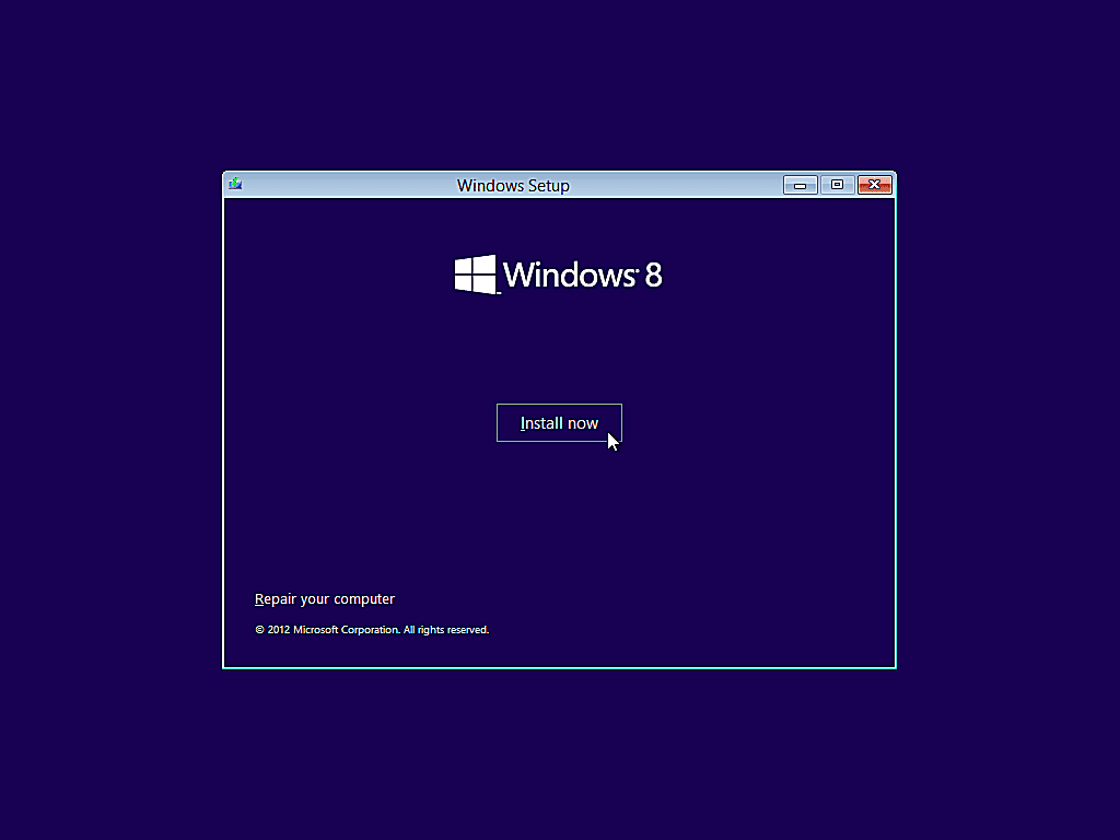 como instalar windows 8 5