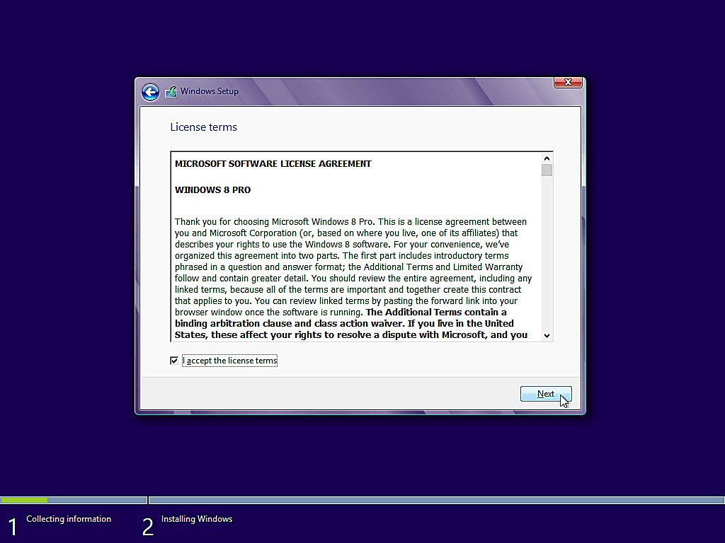 como instalar windows 8 8