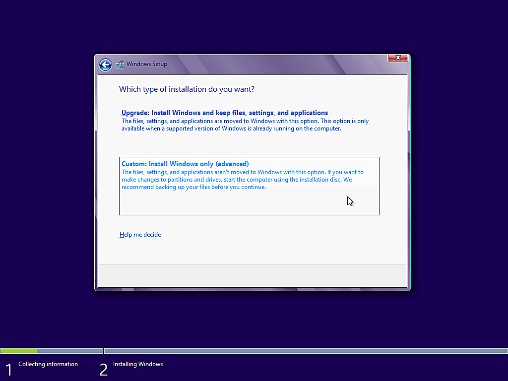 como instalar windows 8 9