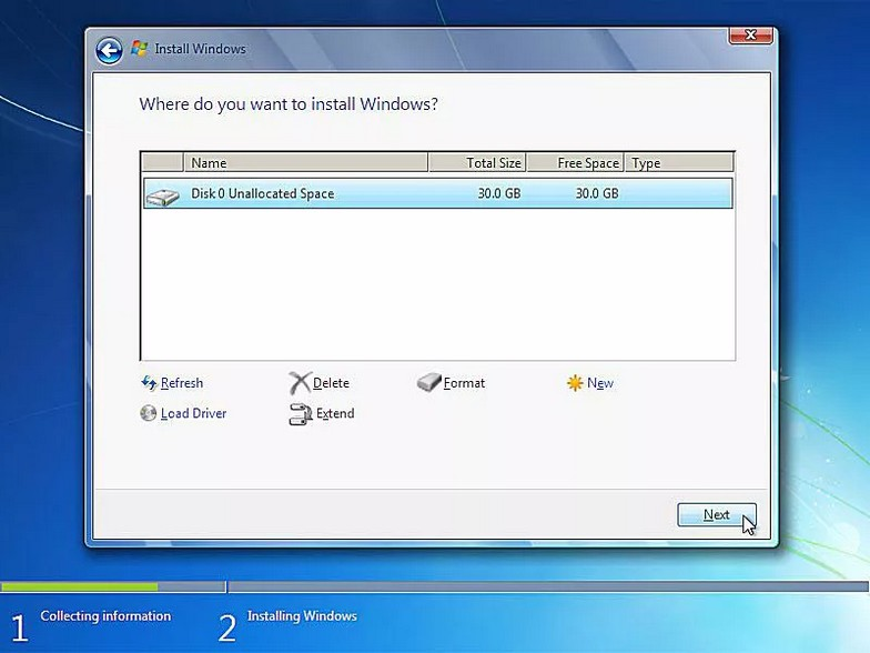 como instalar windows 7 15