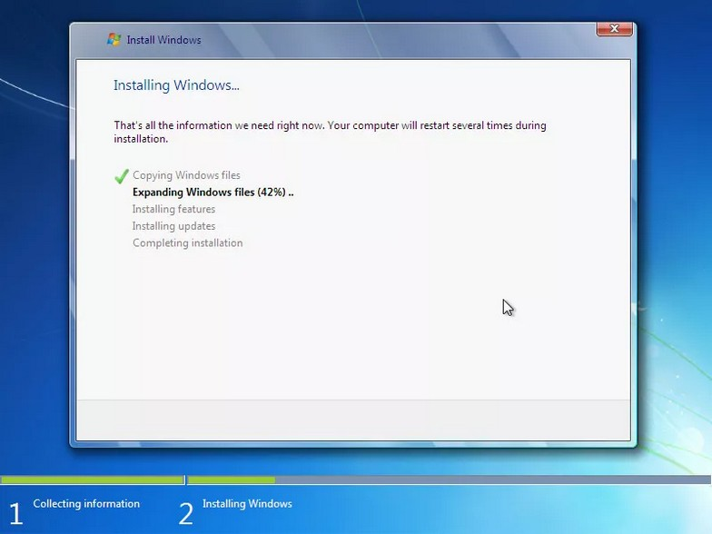 como instalar windows 7 16