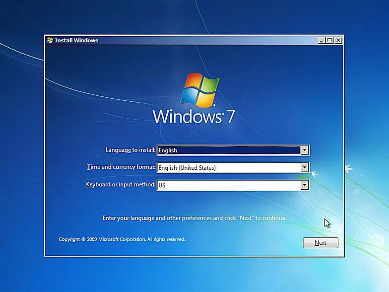 como instalar windows 7 5