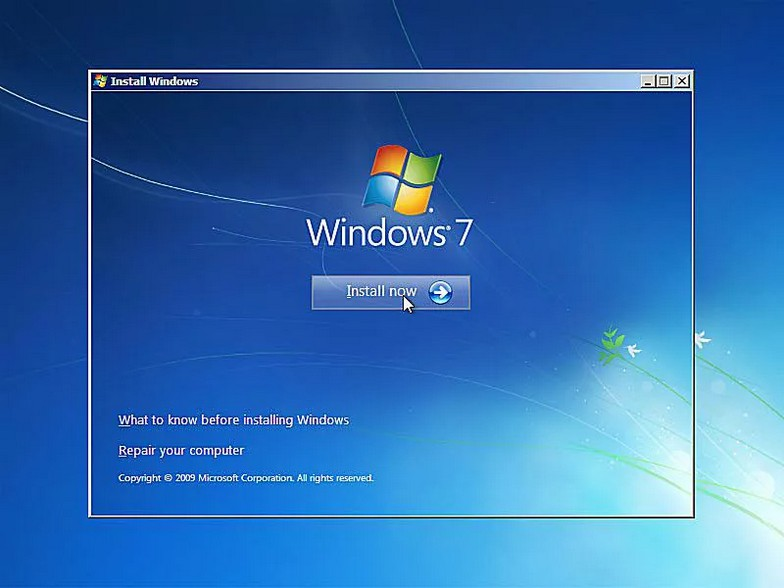 como instalar windows 7 6
