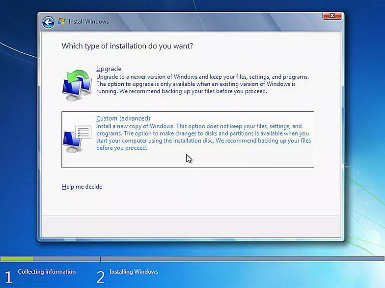 como instalar windows 7 9